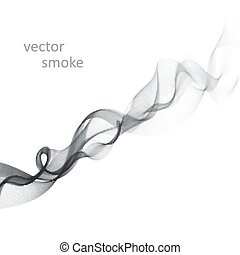 Abstract vector monochrome background with transparent smoke