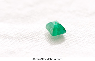 beryl crystal - vibrant green beryl jewel cut crystal on a...