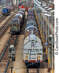 shunting in vienna - freight trains on a shunting in vienna....
