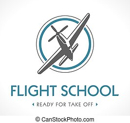 Flight school logo