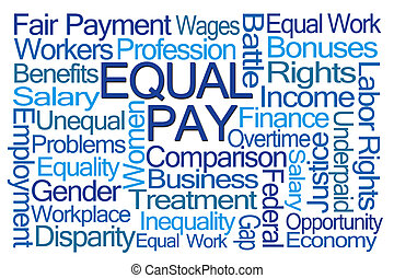 Equal Pay Word Cloud