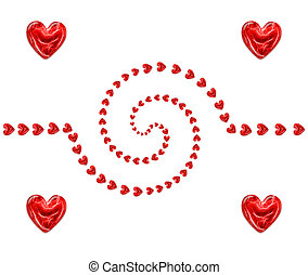 spiral of hearts - spiral of red hearts as a background for...