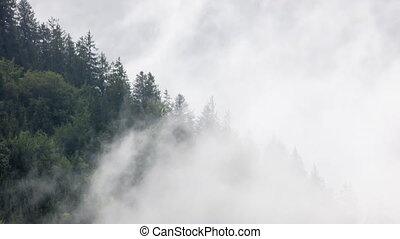 Timelapse of clouds above Alps