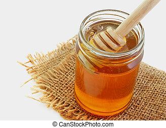 honey in bottle