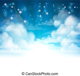 Clouds Background Header
