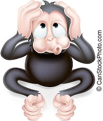 Hear no Evil Monkey - Haer no evil cartoon wise monkey...
