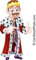 Cartoon King Illustration - Cartoon king character...