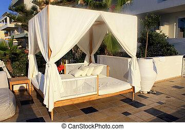 Beautiful sunbed on terrace, Crete, Greece - Beautiful...