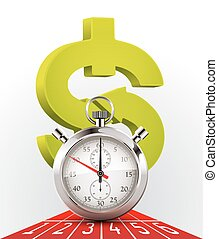 Stopwatch - money and time