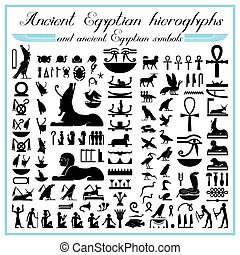 Egyptian hieroglyphs and symbols
