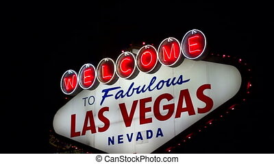 Welcome to Las Vegas Sign Boulevard Strip Roadside...