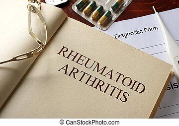 rheumatoid arthritis - Book with diagnosis rheumatoid...