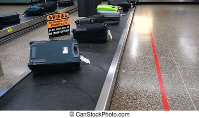 Airport Baggage Terminal Suitcase Beltway - The terminal...