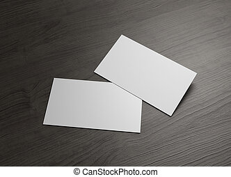 front back business card on table - The 3d name card to use...