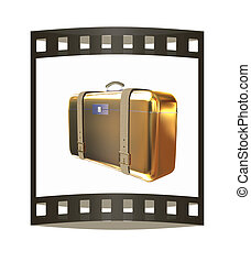Golden suitcase
