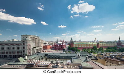 Panorama to Manezh Square, Hotel Moscow, historical Museum...