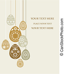 Easter card template - 3 - Easter card template with golden...