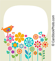 Easter card template - 1 - Easter card template with flowers...