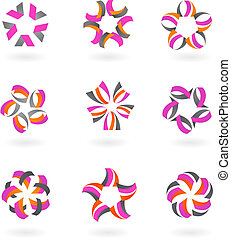 Collection of abstract icons and  logos - 2
