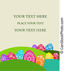 Easter card template - 2
