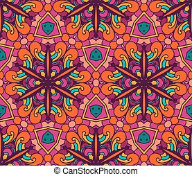Abstract ethnic seamless pattern floral - Abstract Tribal...