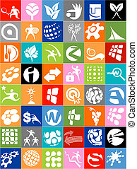 Huge collection of logos, icons and signs - A set of...