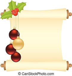 Christmas manuscript isolated - Christmas manuscript with...