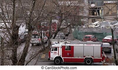 Fire truck arrival hd