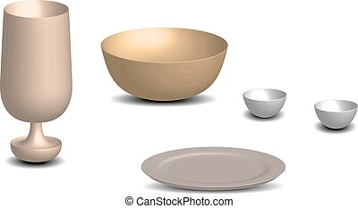 bowl glass dish vector