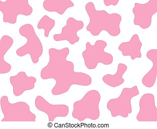 pink cow texture background