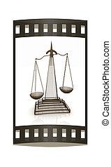 escalas, de, Justicia,