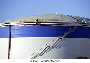 olja, behållare, Bensin, Stor, industri, kemisk, cistern