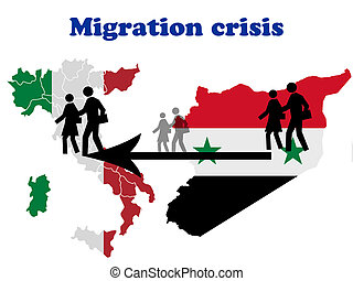 Migration crisis in Italy scheme