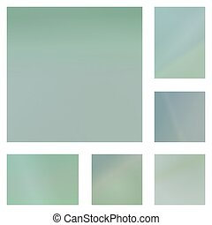 Pale green abstract background set