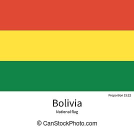 National flag of Bolivia with correct proportions, element,...