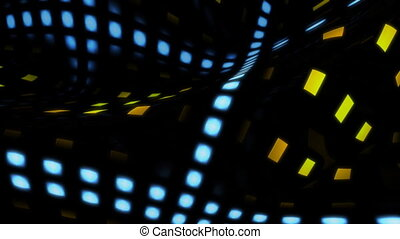 wave line - Abstract background with light