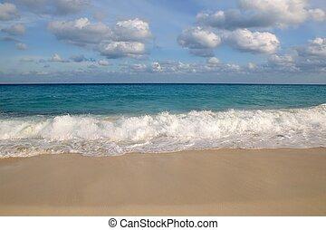 加勒比海, 綠松石, 海灘