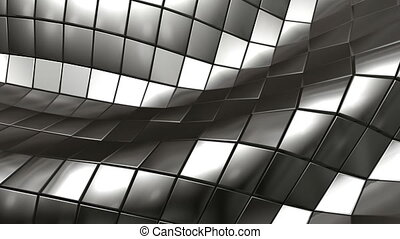 wave steel mesh - Hi tech abstract background