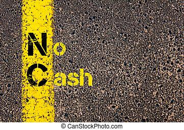 Business Acronym NC as No Cash