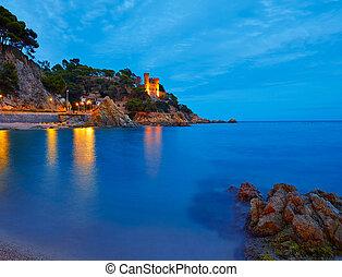 Lloret de Mar sunset at Costa Brava Catalonia - Lloret de...