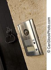 Door and intercom - Intercom and door knocker on the facade...