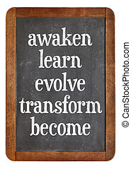 awaken, learn, evolve on blackboard