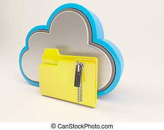 3D Cloud Drive Icon