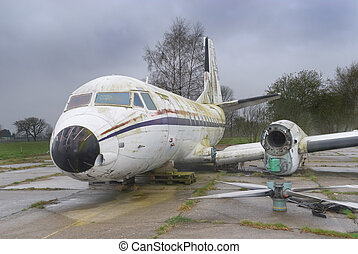 Wrecked old airplane - Decommissioned but intact vintage...