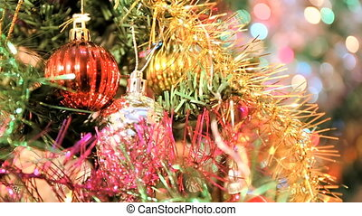 Vintage christmas decoration on the tree - Vintage Christmas...