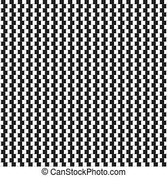 Optical illusion - vertical parallel lines made from small...