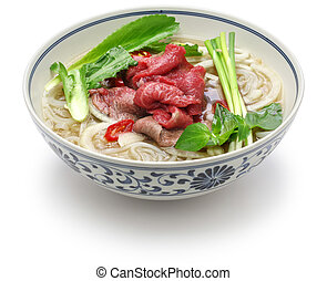 pho bo, vietnamese beef rice noodle