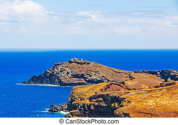 Lighthouse at Ilheu do Farol - the most easterly point on...