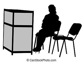 Girl on chair - Girl on a chair during a picnic on a white...