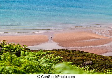 lone person on beach